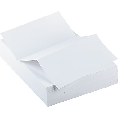 Printworks™ Professional Specialty Paper, White, 8 1/2in.(W) x 11in.(L), Perforated 3 2/3in., 500/Ream