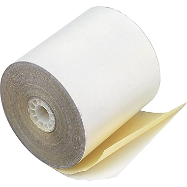 PM Company ® Impact Print Carbonless Teller Window/Financial Paper Roll, 3
