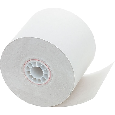 PM Company ® Single-Ply Impact Bond Recycled Receipt Paper Roll, White, 2 1/4in.(W) x 150'(L), 12/Pack
