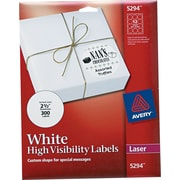 Avery ® 5294 White High-Visibility Label, 2 1/2(Dia), 300/Pack