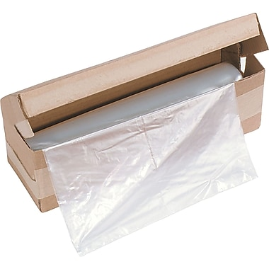HSM of America Clear Plastic Shredder Bag , 34 gal , 34in.(H) x 18in.(W) x 15in.(D)