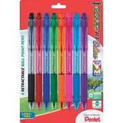 Pentel ® R.S.V.P. ® RT Retractable Ballpoint Pen, 1 mm Medium, Assorted, 8/Pack