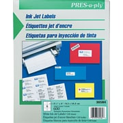 Avery® PRES-a-ply® 30584 White Address Label, 3 1/3(W) x 4(L), 600/Box