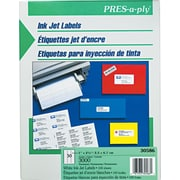 Avery® PRES-a-ply® 30586 White Address Label, 1(W) x 2 5/8(L), 3000/Box