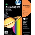 ASTROBRIGHTS® Color Paper, 8 1/2in. x 11in., 24 lb., 5-Color Assortment, Happy, 500/Ream