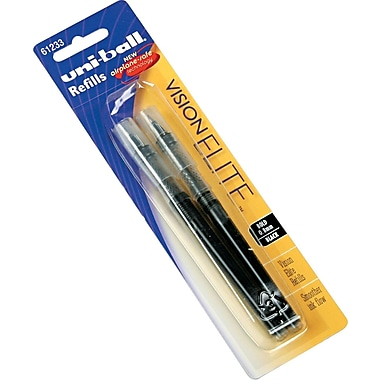 uni-ball ® Refill For Vision Elite Roller Ball Pen, Bold, Black