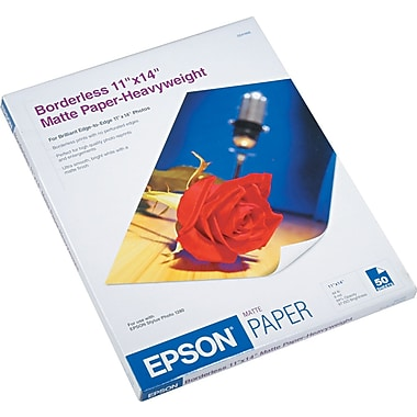 Epson ® Premium Matte Presentation Paper, Bright White, 11in.(W) x 14in.(L), 50/Pack
