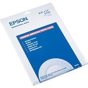 "Epson® Premium Semi-Glossy Photo Paper, White, 8 1/2""(W) x 11""(L), 20/Pack"