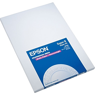 Epson® Premium Matte Presentation Paper, Bright White, 13in.(W) x 19in.(L), 50/Pack