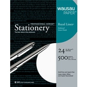 Wausau Paper ® Royal Linen ® Fine Business Paper, White, 8 1/2(W) x 11(L), 500/Box