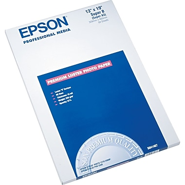 Epson® Premium Luster Photo Paper, 13in. x 19in., 50/Pack