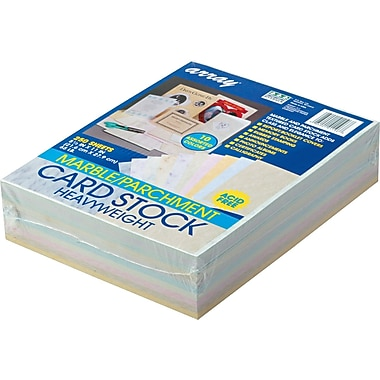 Pacon  Array  Card Stock, 8 1/2in.(L) x 11in.(W), Assorted Cherry, 250 Sheets/Pack