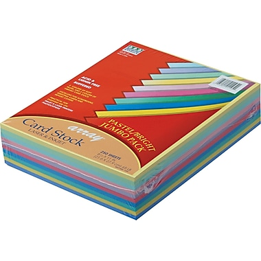 Pacon  Array  Card Stock, 8 1/2in.(L) x 11in.(W), Assorted Canary, 250 Sheets/Pack