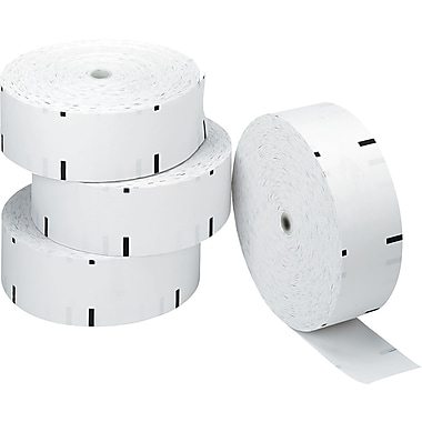 PM Company® Direct Thermal Printing ATM Paper Roll, White, 3 1/8in.(W) x 1,960'(L), 4/Ctn