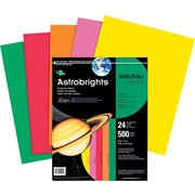 ASTROBRIGHTS® Color Paper, 8 1/2 x 11, 24 lb., 5-Color Assortment, Vintage, 500/Ream