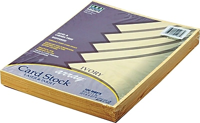 Pacon Array Card Stock 8 1 2 W x 11 L Ivory 100 Pack