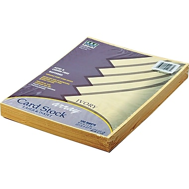 Pacon  Array  Card Stock, 8 1/2in.(W) x 11in.(L), Ivory, 100/Pack
