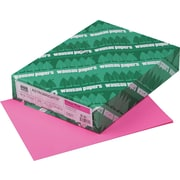 "Wausau Paper  Astrobrights  Colored Card Stock, Pulsar Pink , 8 1/2""(W) x 11""(L), 250 Sheets"