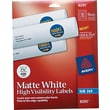 Avery ® 8293 White Print To The Edge Mailing Label, 1 1/2in.(Dia), 400/Pack
