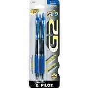 Pilot ® G2 Retractable Gel Ink Roller Ball Pen, 0.7 mm Fine, Blue, 2/Pack