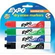EXPO ® Scents Dry Erase Marker, Chisel Tip, Assorted, 4/Pack