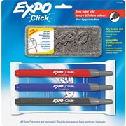 Expo® Click Dry-Erase Marker Starter Set, Fine Point, Assorted Colors, 3/pk (1751668)