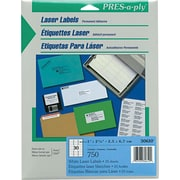 "Avery PRES-a-ply 1"" x 2.63"" Laser Address Labels, White, 25/Pack (30610)"