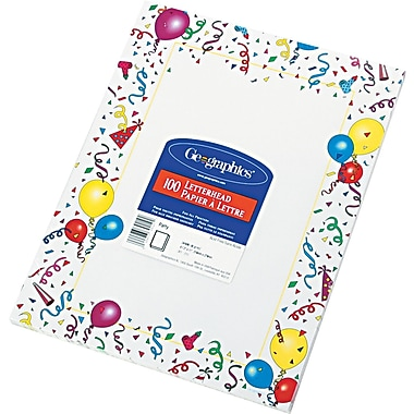 Geographics® Design Paper, 8 1/2in.(L) x 11in.(W), White