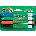 Ticonderoga® White System™ Dry Erase Marker, Chisel Tip, Assorted, 4/Set
