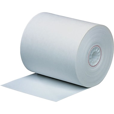 PM Company® Single-Ply Direct Thermal Printing Paper Roll, White, 3 1/8