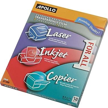 Apollo® Multipurpose Transparency Film, Clear, 8 1/2in.(W) x 11in.(H), 50/Box