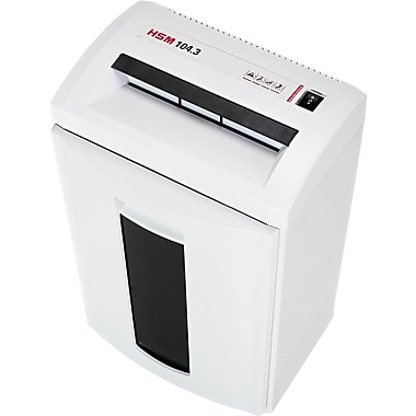 HSM of America 104.3CC Continuous-Duty Shredder, 14 Sheet Capacity, 18 ft / min Speed