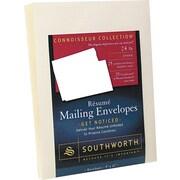 SOUTHWORTH® 25% Cotton Resume Envelope, 9 X 12, 24 lb., Wove Finish, Ivory, 25/Box