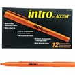 Paper Mate  Intro Highlighter, Chisel Tip, Fluorescent Orange