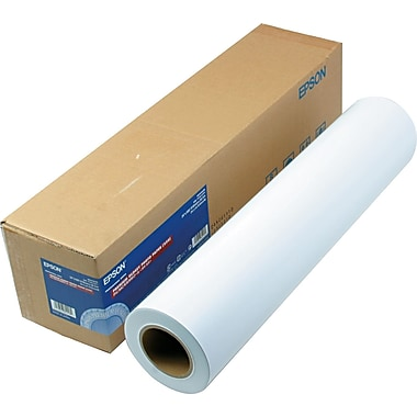 Epson® Premium Glossy Photo Paper Roll, White, 24in.(W) x 100'(L), 1/Roll