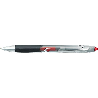 BIC® Triumph® 537RT Retractable Gel Roller Ball Pen, 0.5 mm Fine, Red, Dozen