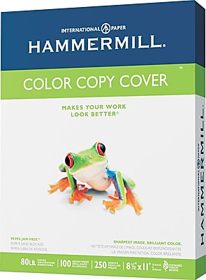 Hammermill Color Copy Digital Cover Stock Photo White 8 1 2 W x 11 L 250 Sheets