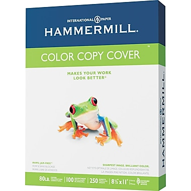 Hammermill  Color Copy Digital Cover Stock, Photo White, 8 1/2in.(W) x 11in.(L), 250 Sheets