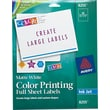 Avery® 8255 White Print To The Edge Mailing Label, 8 1/2in.(W) x 11in.(L), 20/Pack