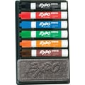 EXPO® Low Odor Dry Erase Marker And Organizer Kit, Chisel Tip, Assorted, 6/Set