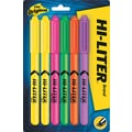 HI-LITER  Pen Style Highlighter, Chisel Tip, Assorted, 6/Set