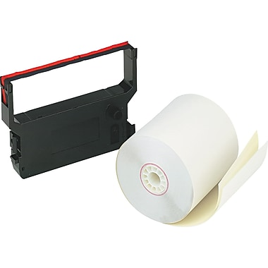 PM Company  Impact Printing Carbonless Paper Roll, Assorted, 3in.(W) x 90'(L), 10/Ctn,