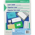 Avery ® PRES-a-ply ® 30604 White Laser Address Label, 3 1/3in.(W) x 4in.(L), 600/Box