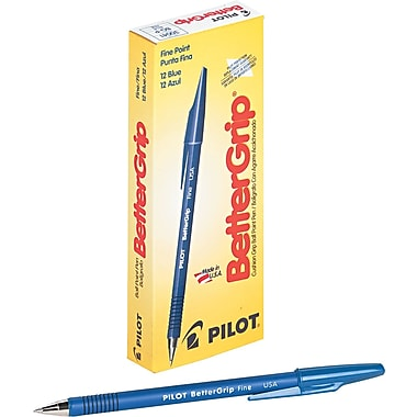 Pilot ® BetterGrip Stick Ballpoint Pen, 0.7 mm Fine, Blue, Dozen