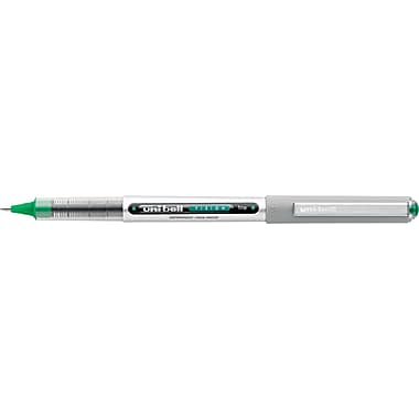 uni-ball  VISION Stick Roller Ball Pen, 0.7 mm Fine, Evergreen, Dozen