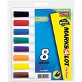 Marks-A-Lot® Desk Style Dry Erase Marker, Chisel Tip, Assorted, 8/Set