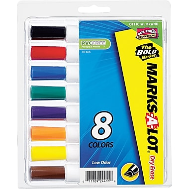 Marks-A-Lot® Desk Style Chisel Tip Dry Erase Markers