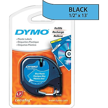 DYMO ® LetraTag ® Self-Adhesive Label Tape Cassette, 1/2in.(W) x 13'(L), Ultra Blue