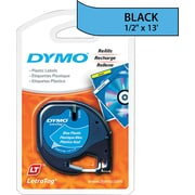 DYMO ® LetraTag ® Self-Adhesive Label Tape Cassette, 1/2(W) x 13'(L), Ultra Blue