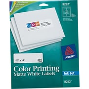 Avery® 8252 White Print To The Edge Mailing Label, 1 1/3(W) x 4(L), 280/Pack